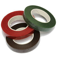 Waterproof Plastic Florist Stem Tape For Floral Flower Crafts Green /Red /Coffee