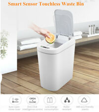 NINESTARS Smart Sensor Touchless Waste Bin Automatically for Home & Office White