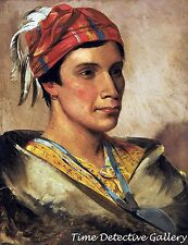 Daniel Bread, Chief of the Oneida Indian Tribe - 1831 - George Catlin Art Print