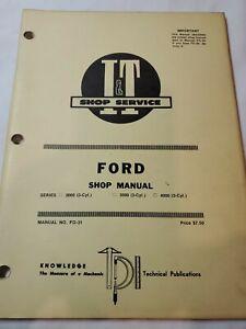 FORD I&T TRACTOR SHOP SERVICE REPAIR MANUAL BOOK 2000 3000 4000