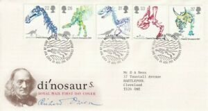 20 AUGUST 1991 DINOSAURS ROYAL MAIL FIRST DAY COVER BUREAU SHS