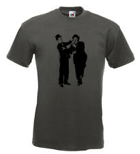 Laurel and Hardy T Shirt Keystone Cops Keaton Chaplin Stan Laurel Oliver Hardy
