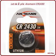1 pila de botón CR2430 litio Ansmann