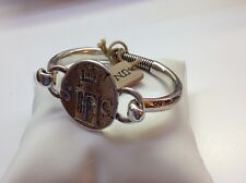 "NWT Uno de 50 Silver-Plated Hinge Bracelet w/ Coin  6.5"" ""Toscan"" $145"