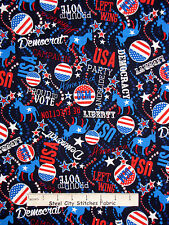 Patriotic Fabric - Democrat Vote USA Benartex Kanvas Studio Celebrate - Yard