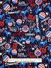 Patriotic Democrat Vote Election Cotton Fabric Kanvas Studio Celebrate By Yard