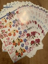 BN Anniversary Numbers And Flowers Decoupage 13 Sheets