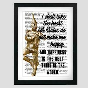 Wizard of Oz Quote Tin Man I Shall Take Heart Recycled Dictionary Art Gift Print