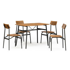 5-Piece Dining Table With 4 Chairs Set Modern For Home Kitchen,Dining Room US