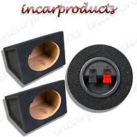 "Pair of 6x9"" Speaker Bass Box Enclosure Black Carpet 15mm MDF Sealed Enclosures"