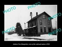 OLD LARGE HISTORIC PHOTO OF AUBURN NEW HAMPSHIRE THE RAILROAD DEPOT c1920