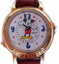 Mickey Mouse Watch Lorus Musical Happy Birthday NEW