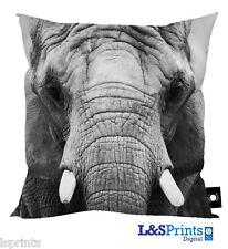 "ELEPHANT FACE DESIGN 1 18"" X 18"" CUSHION GREAT GIFT IDEA L&S PRINTS ANIMAL"