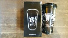 KISS CHROME PLASTIC REISBEKER/TRAVEL MUG