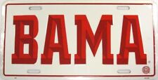UNIVERSITY OF ALABAMA LICENSE PLATE BAMA ROLL TIDE L586