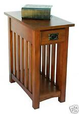 New Small Mission Side Table with Drawer & Shelf Medium