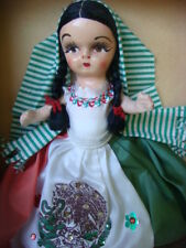 """Old vintage Mexico Mexican VIVA MEXICO girl doll 9"""" tall in box"""