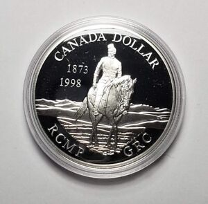 Canada 1998 RCMP Horse .925 Sterling Silver $1.00 One Dollar Coin Proof
