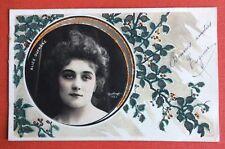 CPA. ALICE DUFRENE . Artiste. Theatre. 1905? Reutlinger. Médaillon. Relief.