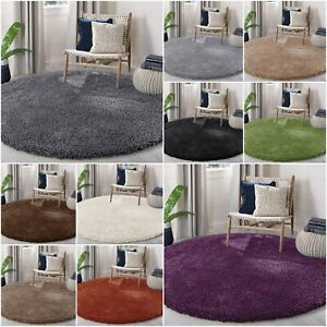 Circle Round Shaggy Rugs Large Living Room Bedroom Carpet 5cm Thick Fluffy Mats