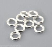 GS 500 Silberfarbe Ösen Geschlossen Bindering Verbindungsringe 4mm