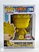 FUNKO POP!: NARUTO SHIPPUDEN - NARUTO (SIX PATH) YELLOW GITD #186 *UK STOCK*