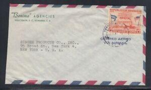 HONDURAS Commercial Cover Tegucigalpa to New York City 7-5-1963 Cancel