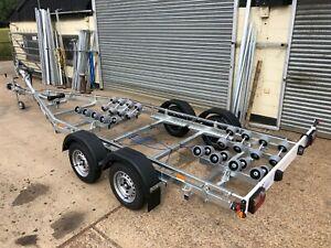 New 2000kg Multi Roller Boat Trailer Swing Beam Powerboat Rib Fishing Cruiser
