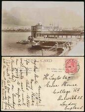 SOUTH AFRICA 1915 PPC CONCERT HALL PIER CAPETOWN REAL PHOTO...BRUSSELS CGH PMK