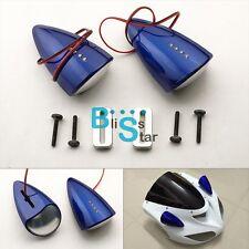 Blue Custom LED Mirrors Turn Signals Fit Suzuki Hayabusa GSXR1300 99-07 BSR