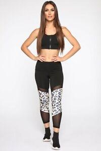 Fashion Nova Leggins Plus Size So Wild Active Legging - Black Size: 1X or 3X