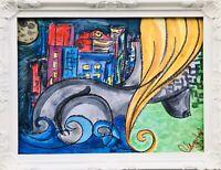 Margarita Bonke Malerei Zeichnung painting City Stadt surrealismus Erotica Akt