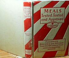 Good Housekeeping's Book of Meals 1930 256 pages Hardcover