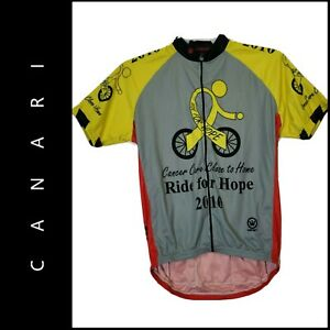 Canari Mens Spell Out Biking Cyclist Bicycle Cycling Jersey Shirt Size Large