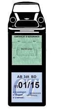 Porte vignette assurance Mini Cooper BMW étui voiture méga Stickers auto rétro