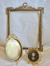 Antique Victorian Picture Frames Three Gilt Brass