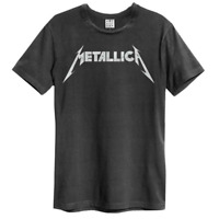 Official Metallica Amplified Black Logo Unisex T-Shirt Licensed Tee