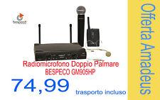 Radiomicrofono Doppio Palmare e Archetto BESPECO GM905HP - Trasporto incluso