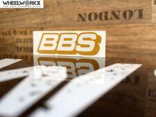BBS Aufkleber Sticker Felgenaufkleber Rennsport Motorsport gold