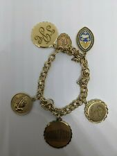 Vintage Winard GF Gold Filled Charm Bracelet With 6 Charms
