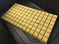 "Grodan 1.5"" AO Rockwool Starter Plug Cubes 98 count - hydroponic aquaponic media"