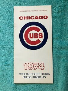 1974 CHICAGO CUBS MEDIA PRESS GUIDE