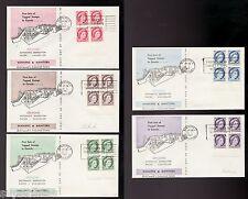 SUPERFLEAS Canada 1962 Bileski COA 1st tagged issue - block set 337p-341p