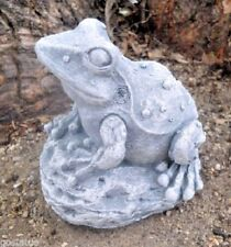 Latex only bumpy frog on a rock mold plaster concrete casting garden mould