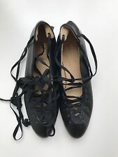 Te Casan NY Classic Black Leather Ballet Flats, Size 6.5
