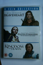 Braveheart / Master And Commander / Kingdom Of Heaven (DVD, 2011, 3-Disc Set)