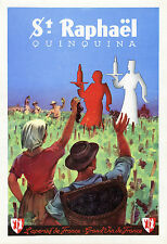 """""""ST RAPHAËL QUINQUINA"""" Affiche d'intérieur originale entoilée (années 30)"""