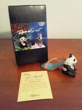2001 Just the Right Shoe by Raine Bamboo Bear w/Coa