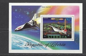 LIBERIA - 800 S/S - MNH - 1978 - PROGRESS OF AVIATION - SPACE SHUTTLE & CONCORDE