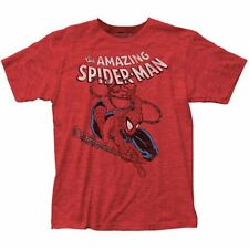 AMAZING SPIDER-MAN RED T-SHIRT SMALL SIZE 100% COTTON HIGH QUALITY MENS CLOTHES